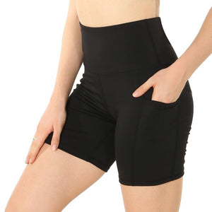 Women Summer Elastic Waist Quick Dry Gym Yoga Shorts - outoff
