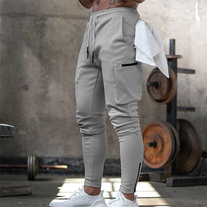 Jogger Sweatpants Man Gyms Workout Fitness - outoff