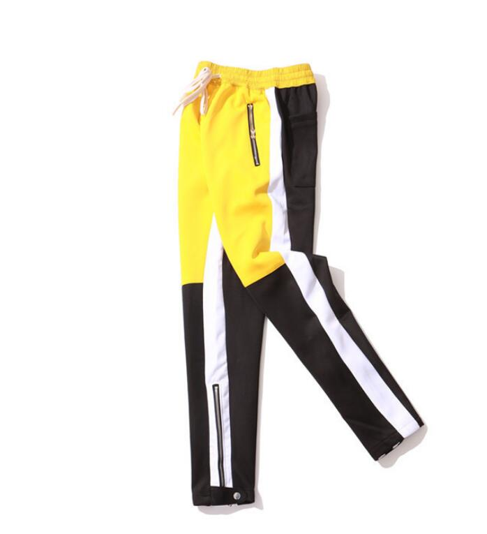 Vintage Color Block Patchwork Sweatpants - outoff