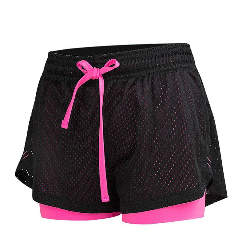 Sport Shorts Women Fitness Clothes Summer Mesh Workout Lulu Running Gym Yoga Shorts - outoff