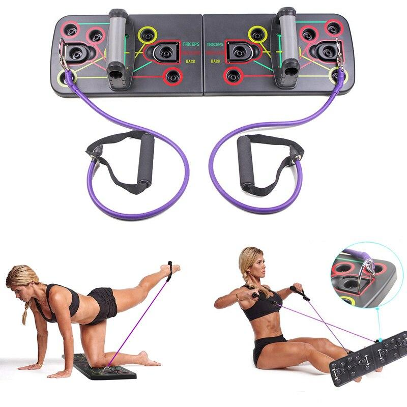 9 in 1 Push Up Board with Multifunction Body Building Fitness Exercise Tools Men Women Push-up Stands For GYM Body Training - outoff