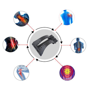 Back Massage Magic Stretcher Fitness Equipment Stretch Relax Mate Stretcher Lumbar Support Spine Pain Relief Chiropractic - outoff