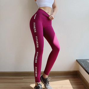 Pink Hip Up Fitness Pants Women - outoff