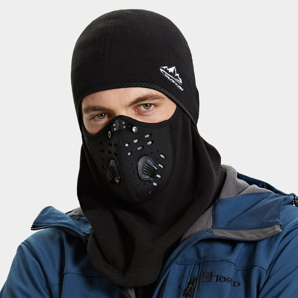 Winter Cycling Mask Thermal Keep Warm Windproof Half Face Sport Mask Balaclava Skiing Running Snownboard Hat Headwear - outoff