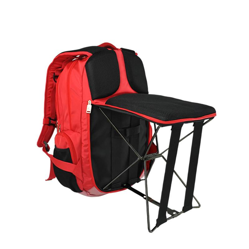Portable Foldable Fishing Chair Bag 2 In 1 Outdoor Waterproof Backpack - outoff