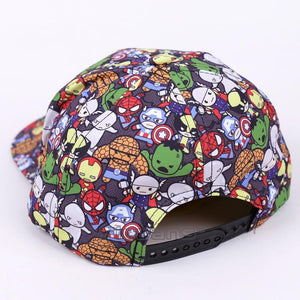 Marvel Comics The Avengers Men/Women Baseball Cap Cartoon Adjustable Snapback Hat Street Hip Hop Caps - outoff