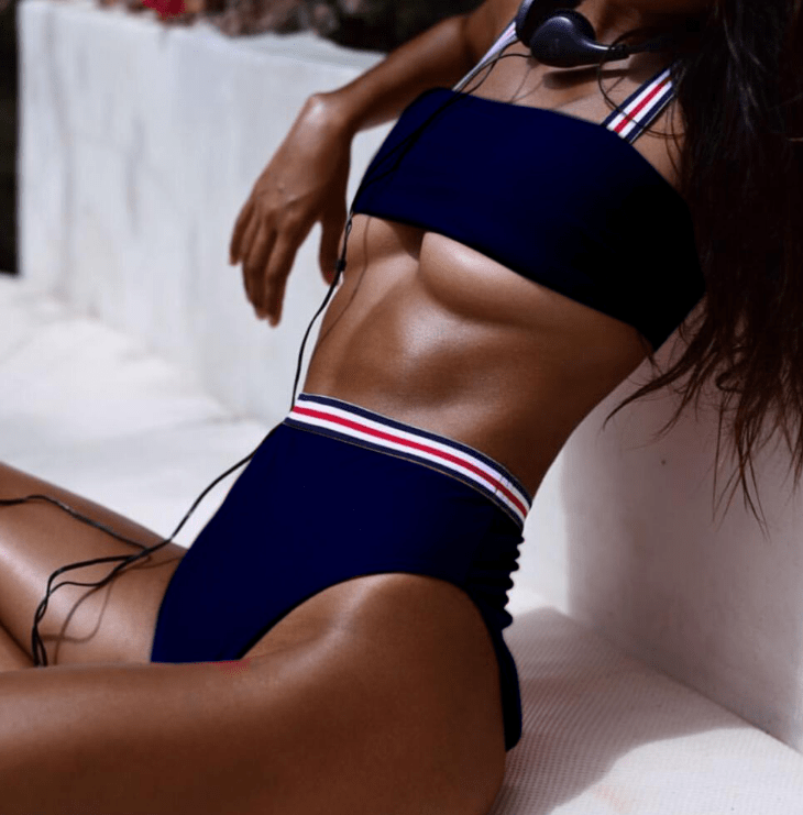 High Waist Bikini Set Swimwear Women Swimsuit Sexy Push Up Swimming Suit For Women Bathing Suit - outoff