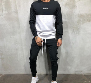 Men's Hoodies Tracksuit Set Male Sweatshirt Sweatpants Multi-pocket Fashion Trousers High Street Jackets Sets - outoff