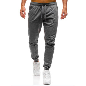 Men Joggers Elastic Waist Long Trousers - outoff