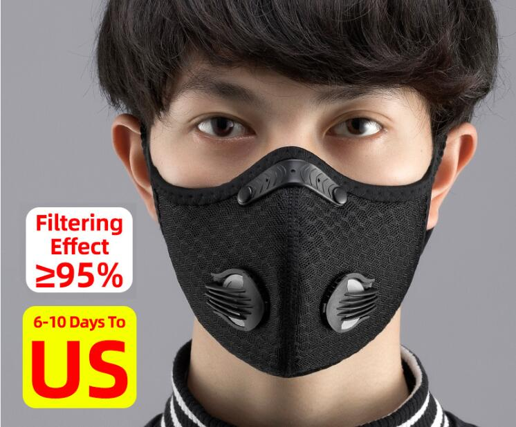 Fitness Face Mask Filter KN95 Anit-fog Breathable Dustproof Bicycle Respirator Sports Protection Mouth-Muffle Dust Mask - outoff