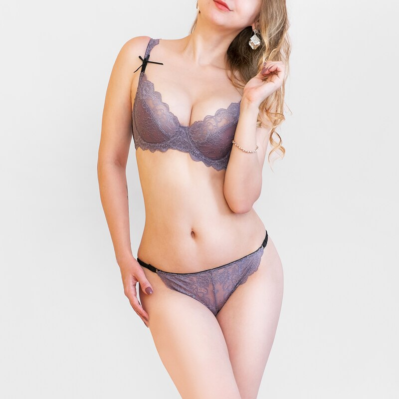 Ultra-thin bra set Transparent Lingerie - outoff
