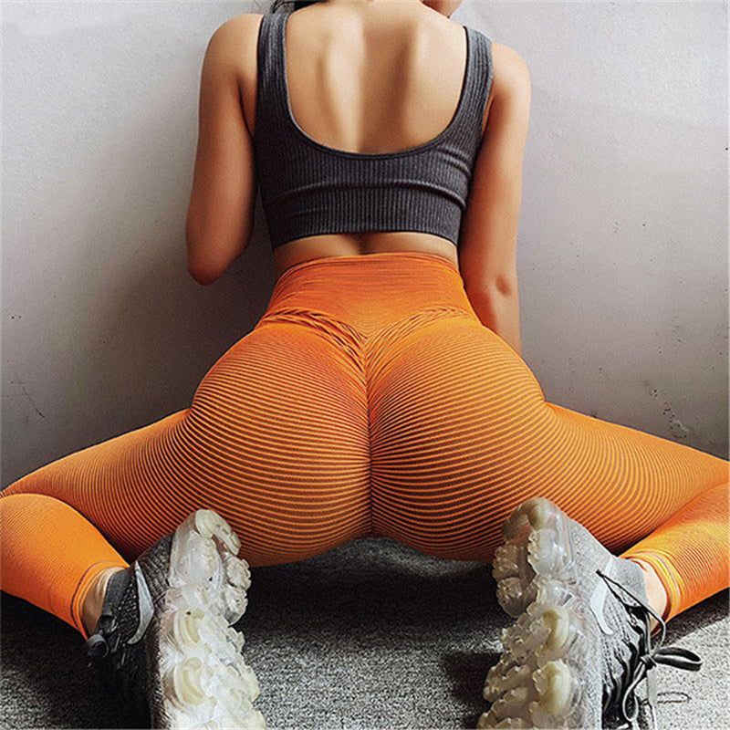 Sexy Scrunch Butt Sport Legging Women Elastic High Waist Seamless Fitness Yoga Booty Push Up Pant Legging Gym Push up Leggings