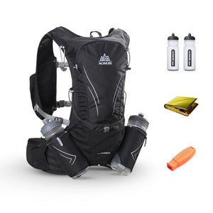 AONIJIE 15L Large Running Bag With 2Pcs 600ml Bottles - outoff