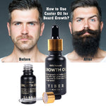 Men Beard Growth  Oil Kit Soften Hair Growth Nourishing Enhancer Beard Wax Balm Moustache Oil Leave-In Conditioner Beard Care - outoff