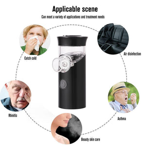 Steaming Tool Handheld Ultrasonic Nebulizer Portable Mute Asthma Inhaler Atomizer USB Rechargeable Mini Cool Mist - outoff