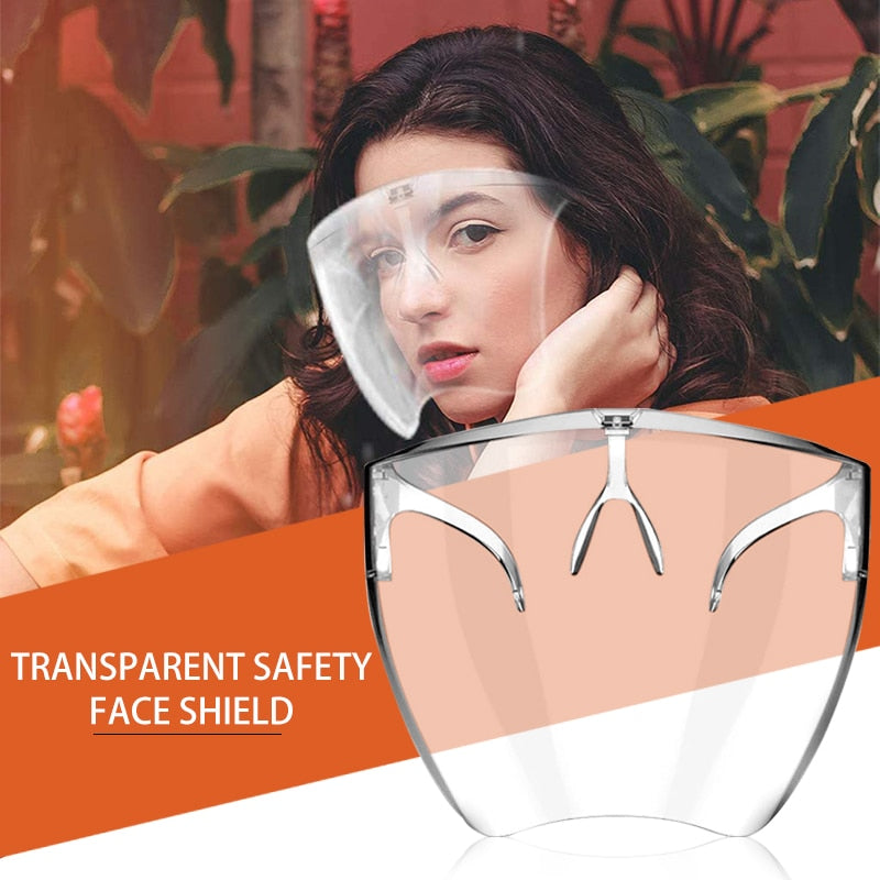 Dropship Hot 2/1PCS Clear Safety Goggles Eye Protection Half Face Cover Transparent Face Shield Fast Shipping - outoff