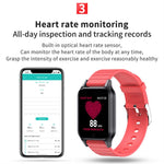 Body Temperature Smart Watch T96 Heart Rate Blood Pressure Fitness Tracker Bluetooth Smart Bracelet - outoff