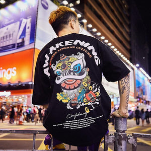 Special Japanese Tide brand short-sleeved men and women summer street hip hop T-shirt - outoff