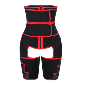 Women High Waist Thigh Trimmer Neoprene Sweat Shapewear Slimming Leg Body Shapers Adjustable Waist Trainer Slimming Belt - outoff