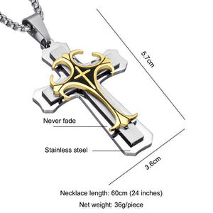 Jesus Cross Necklace Pendant - outoff