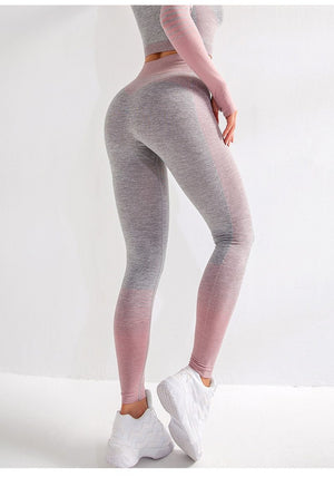 Striped Running Gym Fitness Yoga Tight Active Leggings - outoff
