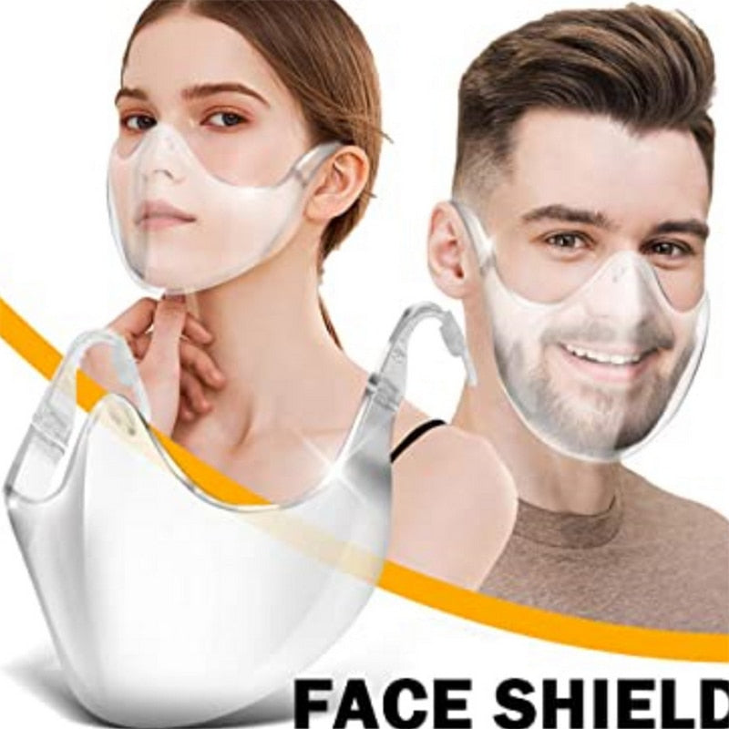 PE Full Face Shield Large Mirror Guard Protector Oversized Visor Wrap Shield Halloween Mask With Breathing - outoff
