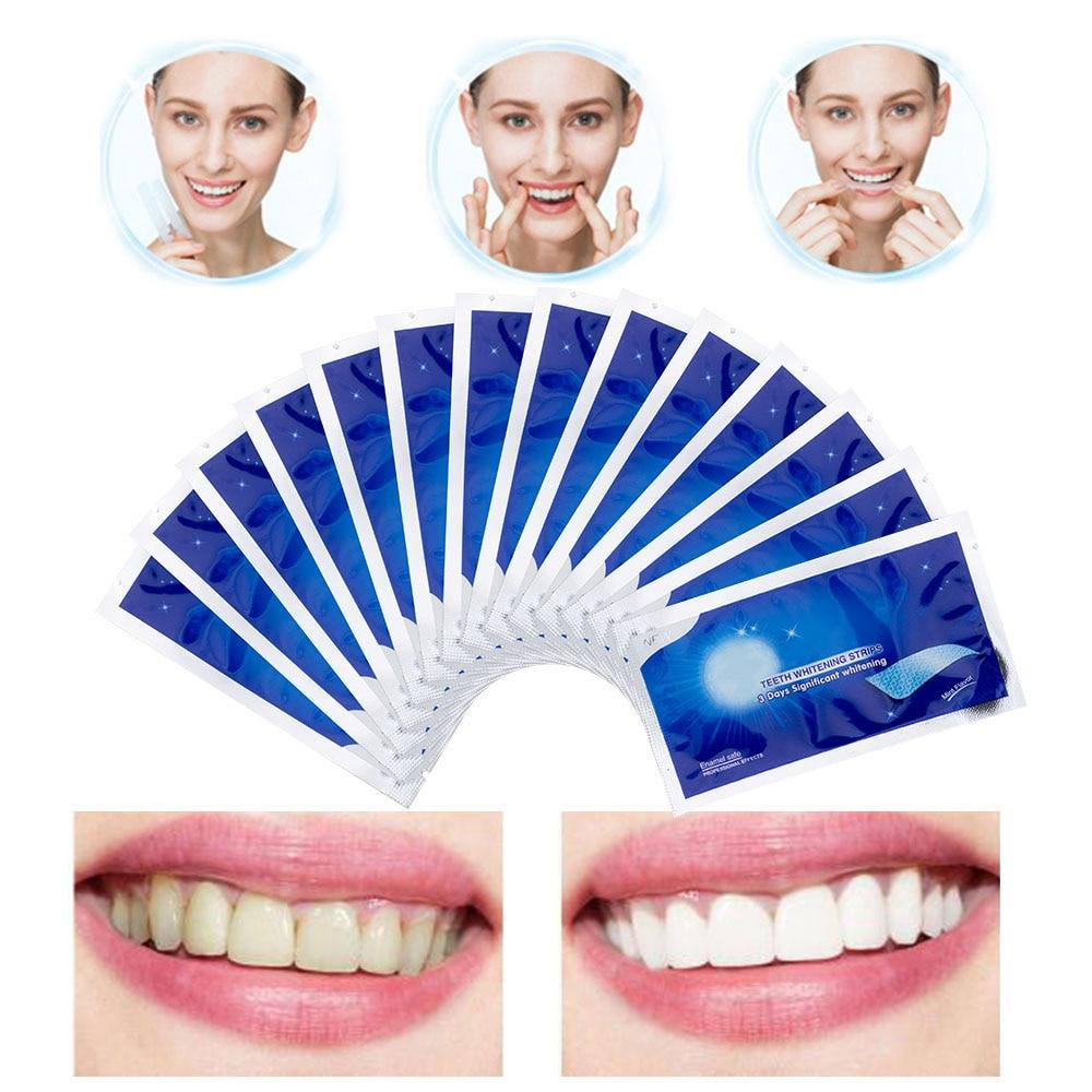 Advanced Teeth Whitening Strips Stain Removal for Oral Hygiene Clean Double Elastic Dental Bleaching Strip - outoff