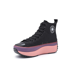 Outoff High Top Canvas Women Sneakers - outoff