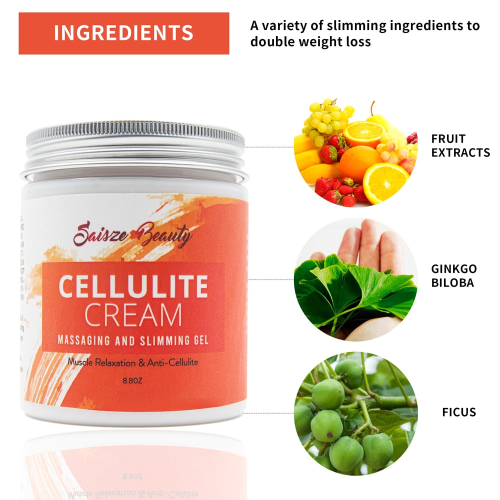 Hot Cellulite Treatment Slimming firming Cream Break Down Fat Tissue Tightens Fat Burning Best Weight Loss - outoff