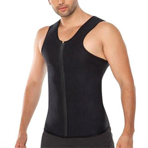 Men Ultra Sweat Thermal Muscle Shirt Hot Shapers Neoprene Slimming Body Shaper - outoff