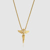 Angel Pendant Necklace in Gold - outoff