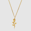 Men's Rose Pendant Necklace in Gold - outoff