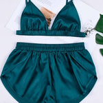 Satin Bra & Shorts Set - outoff