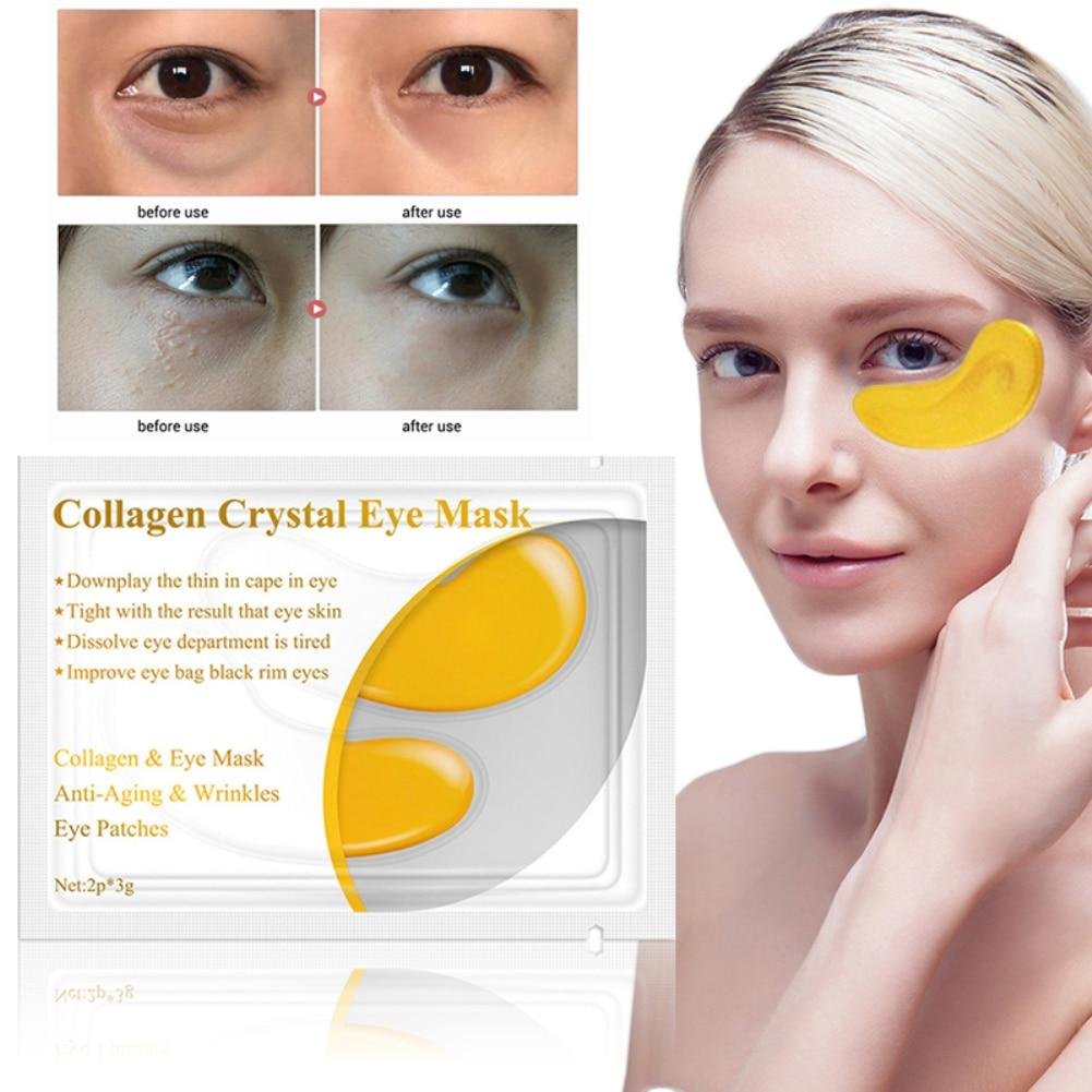 Crystal Collagen Gold Eye Mask Dark Circle Puffiness Eye Bag Anti-Aging - outoff