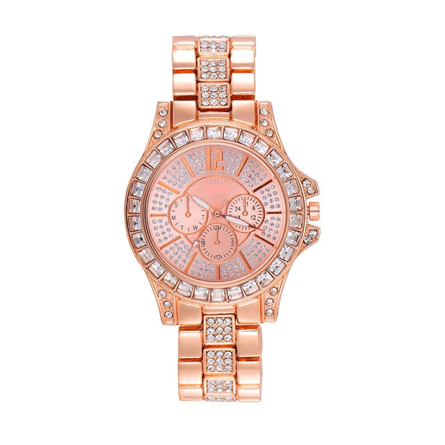 Iced Out Bling Luxury Quartz Watches - outoff