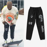 Kanye West Drawstring Printing Cotton Joggers - outoff