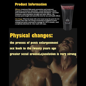 Powerful Men Massage Relaxation Nourising Cream Body Gel Increase Cock Thickening Growth Recommen - outoff