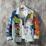 OutOff Hip Hop Fashion Printed Jeans Jackets - outoff