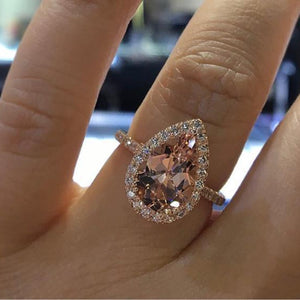 Elegant Cubic Zirconia Ring Women Jewelry - outoff