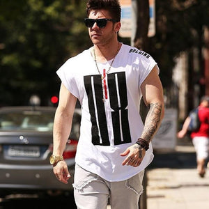 Mens Run Jogging Sports Cotton T-shirt Gym Fitness Bodybuilding - outoff