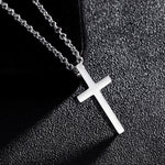 Titanium Steel Cross Pendant Necklace - outoff