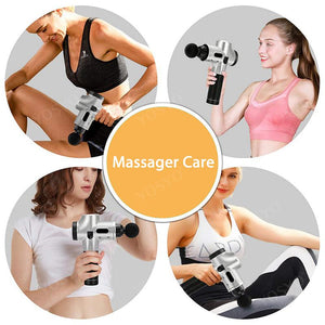 LCD Display Massage Gun Deep Muscle Massager Muscle Pain Body Massage Exercising  Relaxation Slimming Shaping Pain Relief - outoff