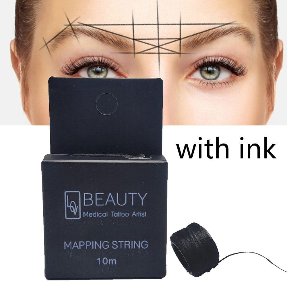 New Microblading MAPPING STRING Pre-Inked Eyebrow Marker thread Tattoo Brows Point - outoff