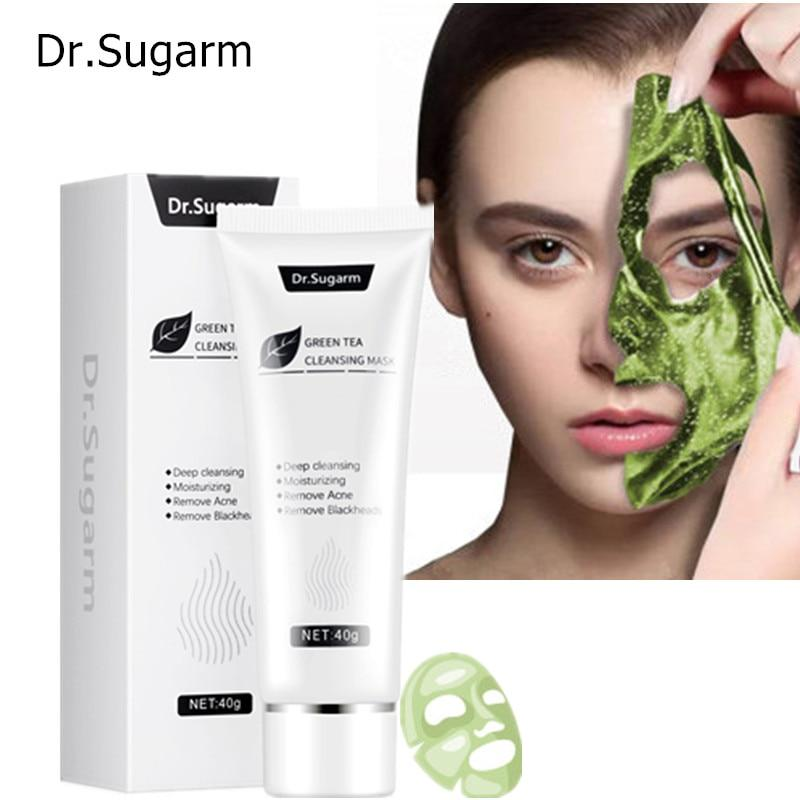 Dr.Sugarm Green Tea Face Peel Mask Blackhead Remover Moisturzing Face Cream - outoff