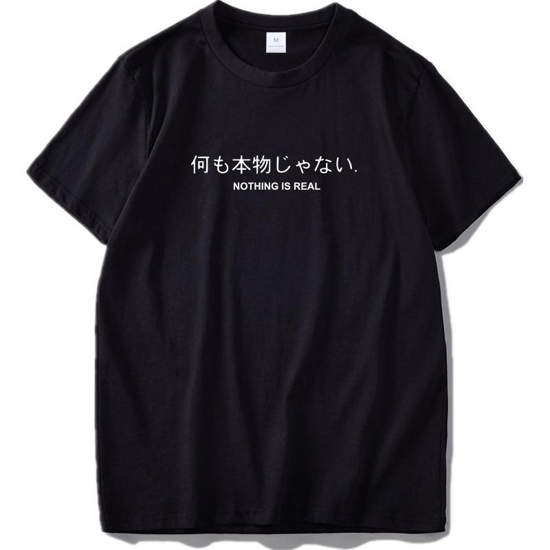 Nothing Is Real T Shirt Harajuku Japanese - outoff