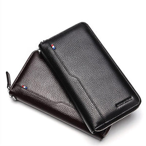 BISON DENIM 100% Cow Leather Clutch Wallets - outoff