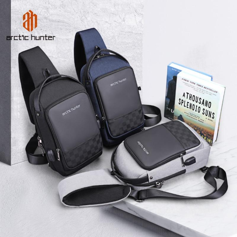 OutOff USB Waterproof Men Chest Bag Male Leisure Messenger Shoulder Bag - outoff