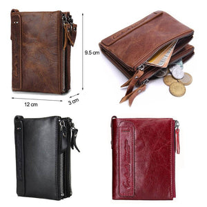 Crazy Horse Cowhide Leather Men Wallet - outoff