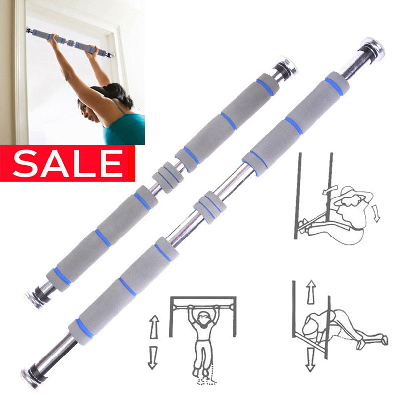 Door Horizontal Steel Adjustable Training Bars For Home - outoff