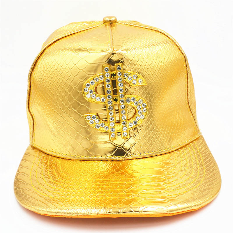 Metal Golden Dollar Style Baseball Cap - outoff